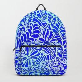 Jungle Garden, Blue Backpack