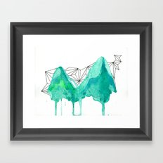 untitled (mountains) Framed Art Print
