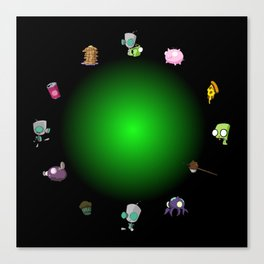 GIR Clock Canvas Print