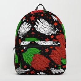Protea Pattern - Lovely Australian Native Florals Backpack
