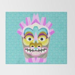 Hawaiian Tiki Aloha Throw Blanket