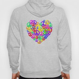 Peace is Love - Heart Together Life Society Hoody