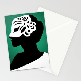The Mask - green Stationery Cards