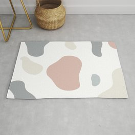 Moo patches - Coral colour series  Rug