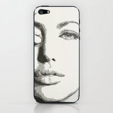 angelina jolie grayscale iPhone & iPod Skin