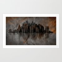 metropolis Art Prints featuring Metropolis by Robin Curtiss