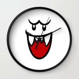 Resting Boo Face Wall Clock