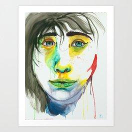 Arctic Lady Art Print