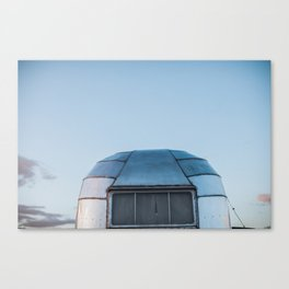Vintage Airstream Whale Tail Canvas Print