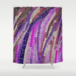 Pink & Purple Mosaic - JUSTART (c) Shower Curtain