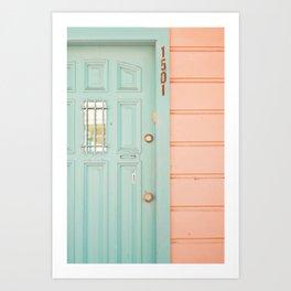 Pastel House Art Print