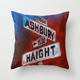 Haight and Hashbury Throw Pillow