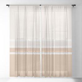 Split 4 Rust Sheer Curtain
