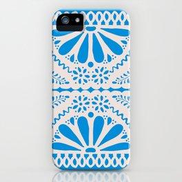 Fiesta de Flores in Party Blue iPhone Case