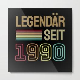 30 Jahre Geburtstagsgeschenk Metal Print