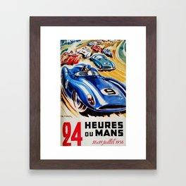 Le Mans poster, 1956, race poster, t shirt Framed Art Print