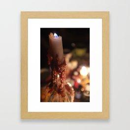 waxy candle Framed Art Print
