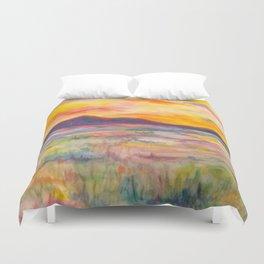 Cache Valley Sunset Duvet Cover