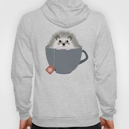 Holiday Tea Cup Hedgehog Hoody