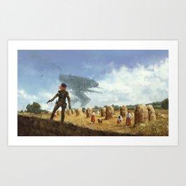 1920 - iron harvest Art Print
