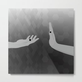 Geometric Surrealism: Rejection Metal Print