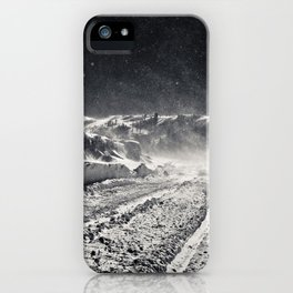 B&W Snow Background iPhone Case