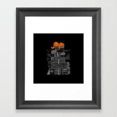 Sleeping On My Threasure Black And White Framed Art Print