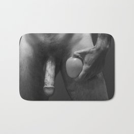 Naked Athlete and Apple Bath Mat