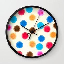 More colourful polka dots Wall Clock