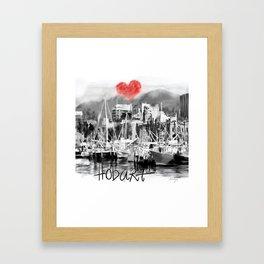 I love Hobart Framed Art Print