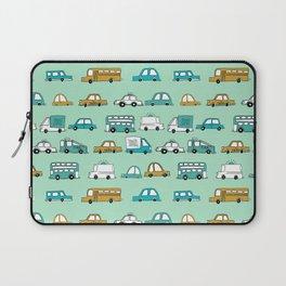 Cars trucks buses city highway transportation illustration cute kids room gifts Laptop Sleeve