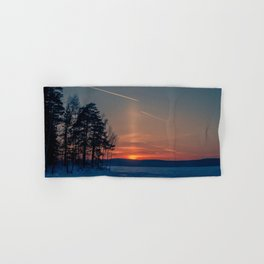 Flying at sunset Hand & Bath Towel