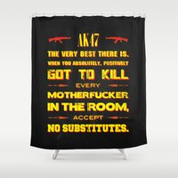 tarantino Shower Curtains featuring JackieBrown by Fimbis