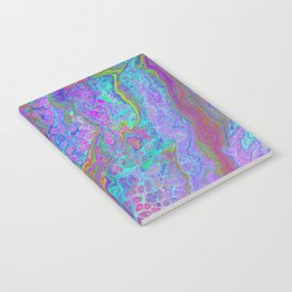 Pink Turquoise Pour Notebook
