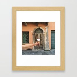 Marostica with a cherry on top Framed Art Print