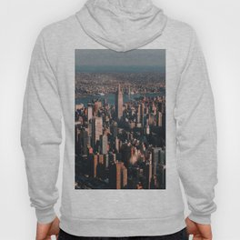 Empire State Building seen from a plane Hoody