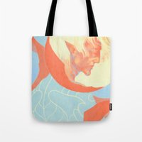 dragon age Tote Bags featuring Dragon Age: Fenris by Couple Of Kooks