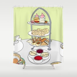 English Afternoon Tea Shower Curtain