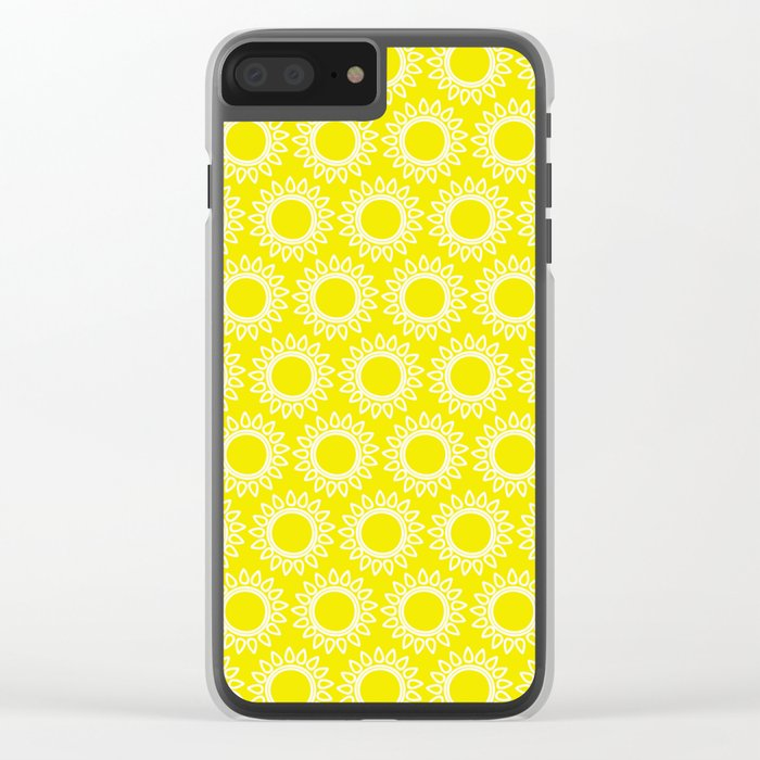 Sun Yellow Pattern- Beach Sun - Mix and Match with Simplicity of Life Clear iPhone Case