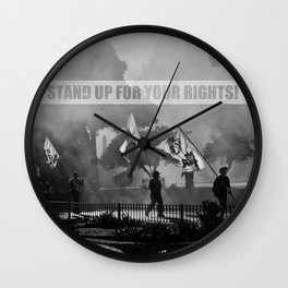 Stand up for your rights! Wall Clock