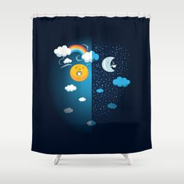 Night and Day Shower Curtain