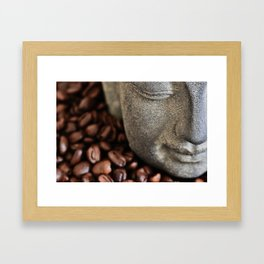Coffee Buddha 4 Framed Art Print