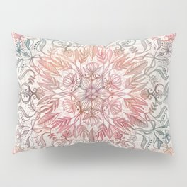 Autumn Spice Mandala in Coral, Cream and Rose Pillow Sham