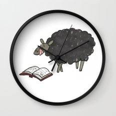 Books are Tasty Sheep Wall Clock
