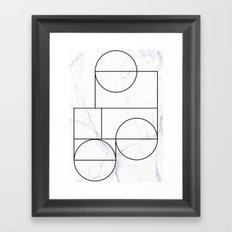 Marble Line Framed Art Print