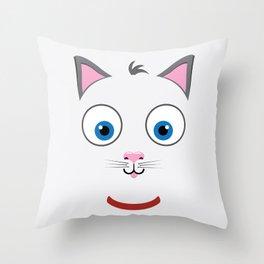 Cartoon Cat Throw Pillow