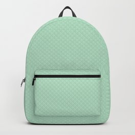Summermint Pastel Green Mint Puffy Quilt Backpack