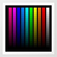 Color scale Art Print