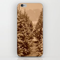 christmas trees past iPhone & iPod Skin