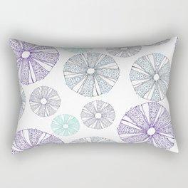 white sea urchin Rectangular Pillow